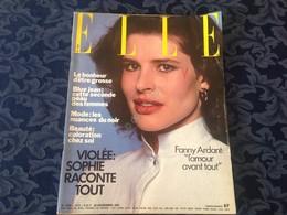 ELLE FRANCE Rivista Magazine 23 Novembre 1981 N.1872 Fanny Ardant - Libri, Riviste, Fumetti