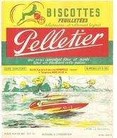 Buvard Pelletier Biscottes Pelletier Série Sport N°28 Le Hors-bord - Biscottes