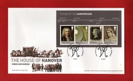 2011 - G.B. - FDC. The House Of Hanover .   Vedi Descrizione. - 2011-... Ediciones Decimales