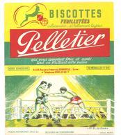 Buvard Pelletier Biscottes Pelletier Série Sport N°31 La Boxe - Biscottes