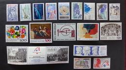 FRANCE - Année 1988 - 55 Timbres ** Neufs Sans Charnière Différents - Stamps