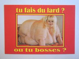 Pin-up Pin-ups Femme Nue Seins Nus Tu Fais Du Lard, Ou Tu Bosses - Pin-Ups