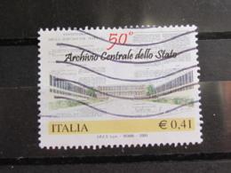 *ITALIA* USATI 2003 - 50° ARCHIVIO CENTRALE STATO - SASSONE 2689 - LUSSO/FIOR DI STAMPA - 6. 1946-.. Repubblica