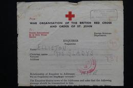 GUERNESEY - Formulaire De La Croix Rouge En 1941 De St John -  L 20985 - Guernsey
