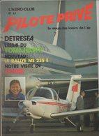 Revue L'aéro-club Et Le Pilote Privé N°60 Décembre 1978 - Detresfa - Essai Du Tomahawk - Le Rallye MS 235 E - Chine - Aviation