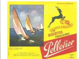 Buvard Pelletier Biscottes Pelletier Série Sport N°48 Le Yatching - Biscottes