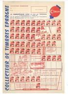 Feuille Papier - Collecteur De Timbres épargne Cibon - Publicités