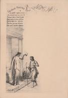 """Menu """" Les Deux Pigeons"""" / N°4 / Fable La Fontaine / Illustrateur Greux - Menus"""
