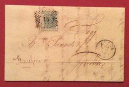 LUCCA 26/3/1868 LETTERA AUTOGRAFA DI CALLISTO FRANCESCONI  PER GENOVA - Storia Postale