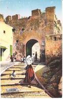POSTAL   TANGER  -MARRUECOS  - UNA PORTE DE CASBAN  (UNA PUERTA DE LA ALCAZABA) - Tanger