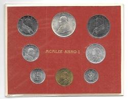 VATICANO 1959 - DIVISIONALE Monete ANNO I PAPA GIOVANNI XXIII  In Confez.  FDC - Vatican