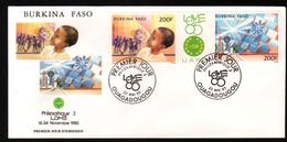 Burkina Faso, 1985, PHILEXAFRIQUE III,. INTERNATIONAL PHILATELIC EXHIBITION - Burkina Faso (1984-...)