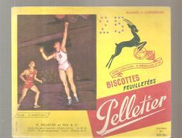 Buvard Pelletier Biscottes Pelletier Série Sport N°44 Le Basket-ball - Biscottes