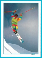 Sports D'hiver Mono Ski Carte Photo Poulet Médialp Postée De Tignes En 1991 - Non Classés