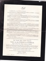BEERNEM LE ZOUTE White Farm Idès Georges Comte Van Der Stegen De Schrieck époux De RENESSE 1907-1961 - Décès