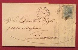 SERAVEZZA D.c. 2/5/68 + Punti Su 20 C.  LETTERA COMPLETA CON RETRO ANNULLI DI LIVORNO + LIVORNO (PORTO) - Storia Postale