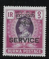 Birmanie Service  N°10 - Neuf ** Sans Charnière - TB - Timbres
