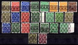 Allemagne/Bizone Petite Collection Chiffres Surchargés Neufs ** MNH Et Oblitérés. B/TB. A Saisir! - American/British Zone