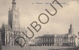 Fotokaart - Carte Photo TIENEN/Tirlemont Eglise Notre Dame Et Hôtel De Ville - Kerk En Stadhuis 1911 (K49) - Tienen