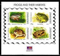 Zimbabwe 2014 Frogs Mini-Sheet, MNH / Mint / ** (Simbabwe) - Zimbabwe (1980-...)
