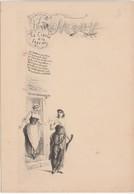 """Menu """" La Cigale Et La Foumi"""" / N° 4 / Fable La Fontaine / Illustrateur Style Greux - Menus"""