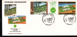 Republique Cebtrafricaine, 1985, PHILEXAFRIQUE III,. INTERNATIONAL PHILATELIC EXHIBITION - Zentralafrik. Republik