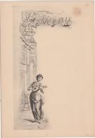 """Menu """" La Cigale Et La Foumi"""" / N° 1 / Fable La Fontaine / Illustrateur Style Greux - Menus"""