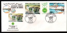 Republique Fédérale Islamique Des Comores, 1985, PHILEXAFRIQUE III,. INTERNATIONAL PHILATELIC EXHIBITION - Comores (1975-...)
