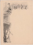 Menu  NOEL / Cuisinier / Illustrateur Style Greux - Menus