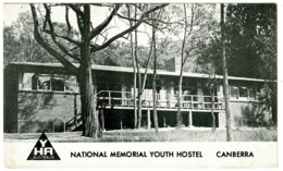 Ref 1260 - YHA Plain Back Card - National Memorial Youth Hostel - Canberra Australia - Canberra (ACT)