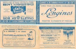 FRANCE - Carnet Série 121 SP Couverture Vide Longines Chalets Laceb - 50c Semeuse Lignée Rouge I - YT 199 C… - Carnets