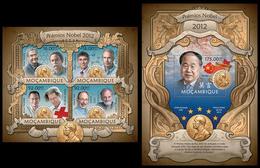 2013 Mozambique, Nobel Prize Laureates, Klb + S/s MNH - Prix Nobel