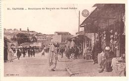 POSTAL   TANGER  -MARRUECOS  - BOUTIQUES DE BACCALS AU GRAND SOKKO - Tanger