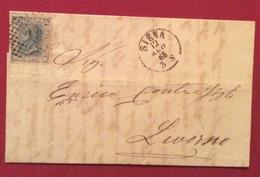 SIENA 12/8/68 + Punti Su 20  LETTERA COMPLETA  DI TESTO PER  LIVORNO - Storia Postale
