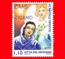 VATICANO - Usato - 2018 - Natale - Annunciazione - Angelo Gabriele - (realizzata Da Un Detenuto) - 1.10 - Vatican