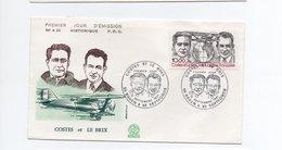 FDC FRANCE Hommage Aux Aviateurs Dieudonné Costes Et Joseph Le Brix (Y.T. PA 55)  BADEN Et SEPTFONDS   12/9/1981 - FDC