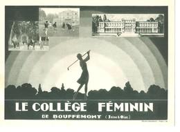 Buvard Photo Le Collège Féminin De Bouffémont (Seine Et Oise) De 1930 - Buvards, Protège-cahiers Illustrés