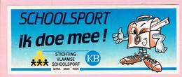 Sticker - SCHOOLSPORT Ik Doe Mee! - Stichting Vlaamse Schoolsport - KB - Autocollants