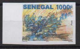 Sénégal 2017 Mi. ? IMPERF ND Centenaire Bataille Du Chemin Des Dames Guerre Mondiale Erster Weltkrieg World War One ** - Guerre Mondiale (Première)