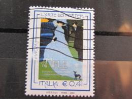 *ITALIA* USATI 2003 - EUROPA UNITA 2003 ARTE POSTER - SASSONE 2687 - LUSSO/FIOR DI STAMPA - 6. 1946-.. Repubblica