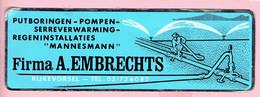 Sticker - Firma A. EMBRECHTS Rijkevorsel - Putboringen Pompen Serreverwarming Regeninstalaties - MANNESMANN - Autocollants