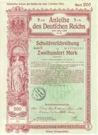 ACTION ALLEMANDE    ANLEIHE  DES DEUTFCHEN REICHS   1918 - Navigation