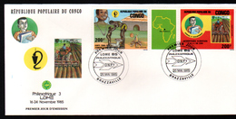 Congo,1985, PHILEXAFRIQUE III,. INTERNATIONAL PHILATELIC EXHIBITION - FDC