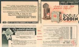 FRANCE - Carnet Série 336 Couverture Vide Godin Poeles - 50c Paix Rouge IIA - YT 283 C41 Et C43 / Maury 203 Et 205 - Carnets