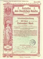 ACTION ALLEMANDE    ANLEIHE  DES DEUTFCHEN REICHS   1917 - Navigation