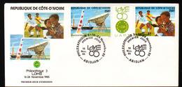 Cote D'Ivoire,1985, PHILEXAFRIQUE III,. INTERNATIONAL PHILATELIC EXHIBITION - Ivory Coast (1960-...)