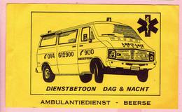 Sticker - AMBULANTIEDIENST - BEERSE - Dienstbetoon Dag & Nacht - Autocollants