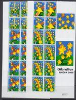 Europa Cept 2000 Gibraltar 4v  Bl Of 6  (margin) ** Mnh (41681) - Europa-CEPT