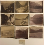 Lot De 31 Photos. Engadine. Suisse. Alpes. Montagne. Glaciers. 1905. - Lieux