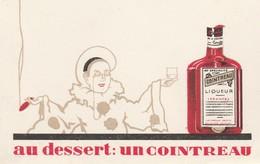 Menu  Publicité Cointreau / Clown / Hôtel Du Centre / 70 Champlitte - Menus